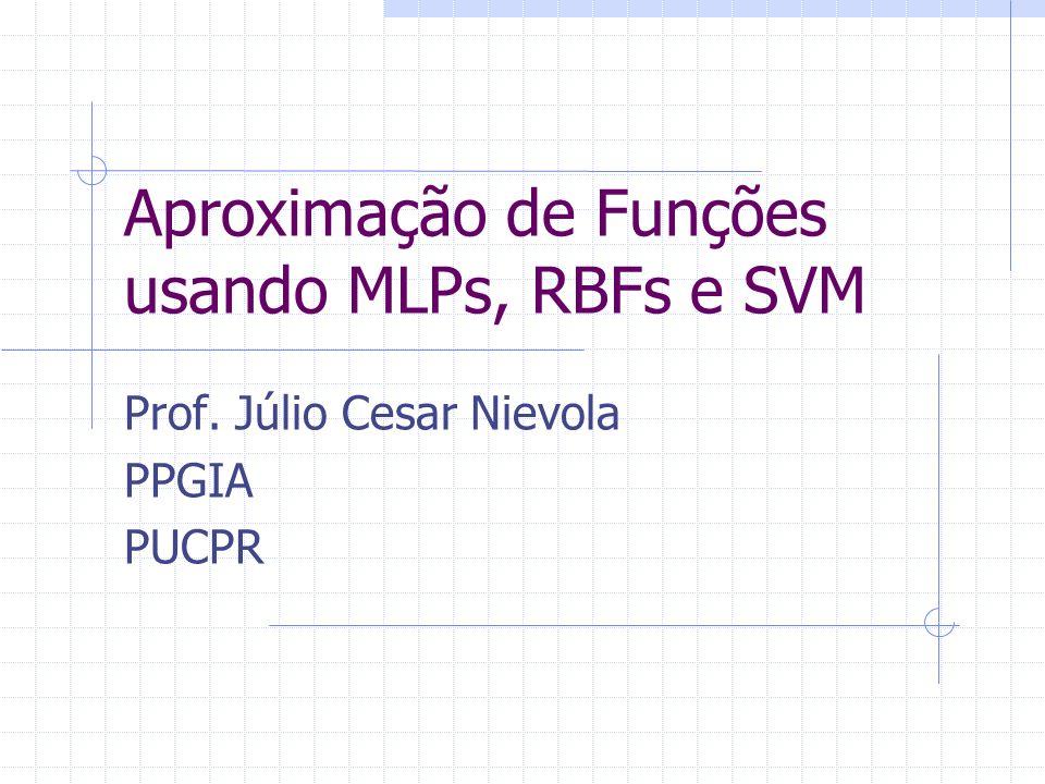 Aproximação de Funções usando MLPs, RBFs e SVM Prof. Júlio Cesar Nievola PPGIA PUCPR