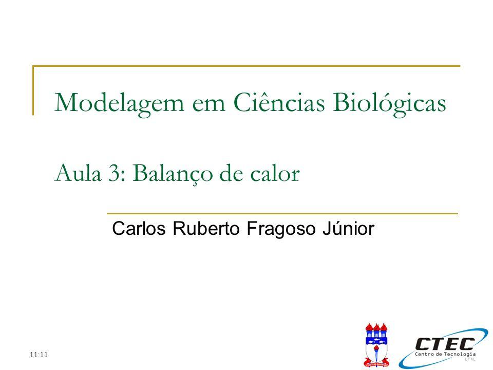 11:11 Modelagem em Ciências Biológicas Aula 3: Balanço de calor Carlos Ruberto Fragoso Júnior