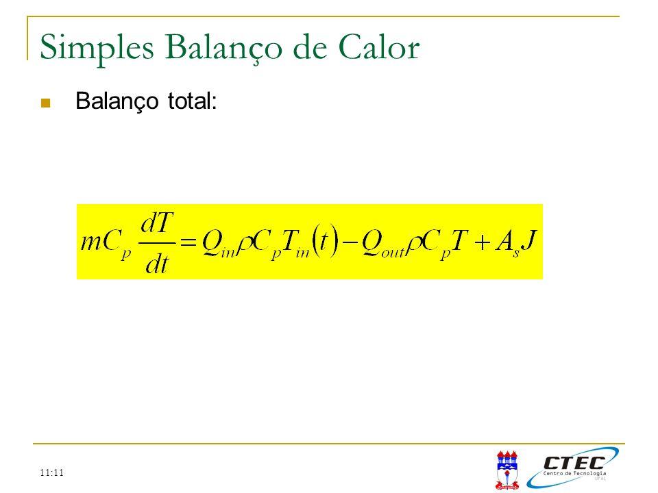 11:11 Simples Balanço de Calor Balanço total:
