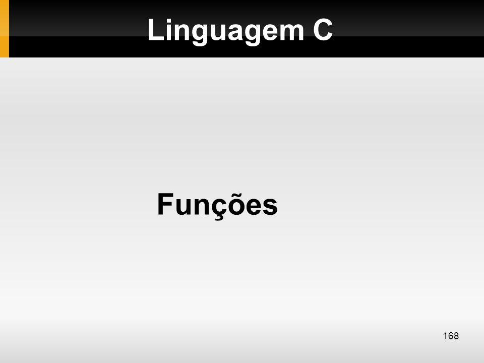 Linguagem C Funções 168