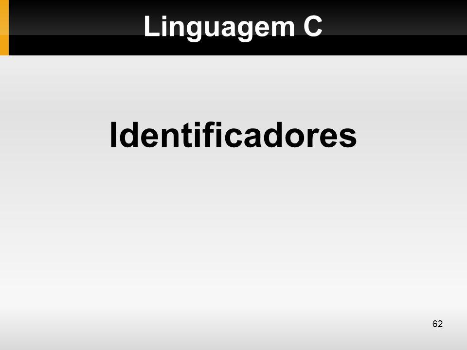 Linguagem C Identificadores 62