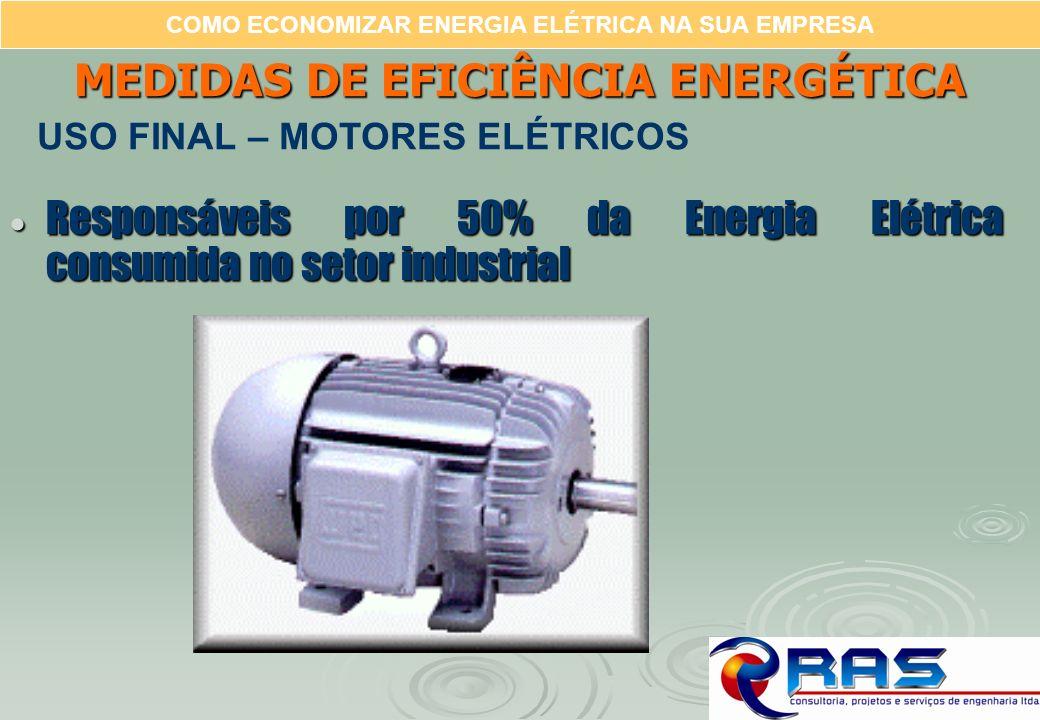 COMO ECONOMIZAR ENERGIA ELÉTRICA NA SUA EMPRESA Responsáveis por 50% da Energia Elétrica consumida no setor industrial Responsáveis por 50% da Energia