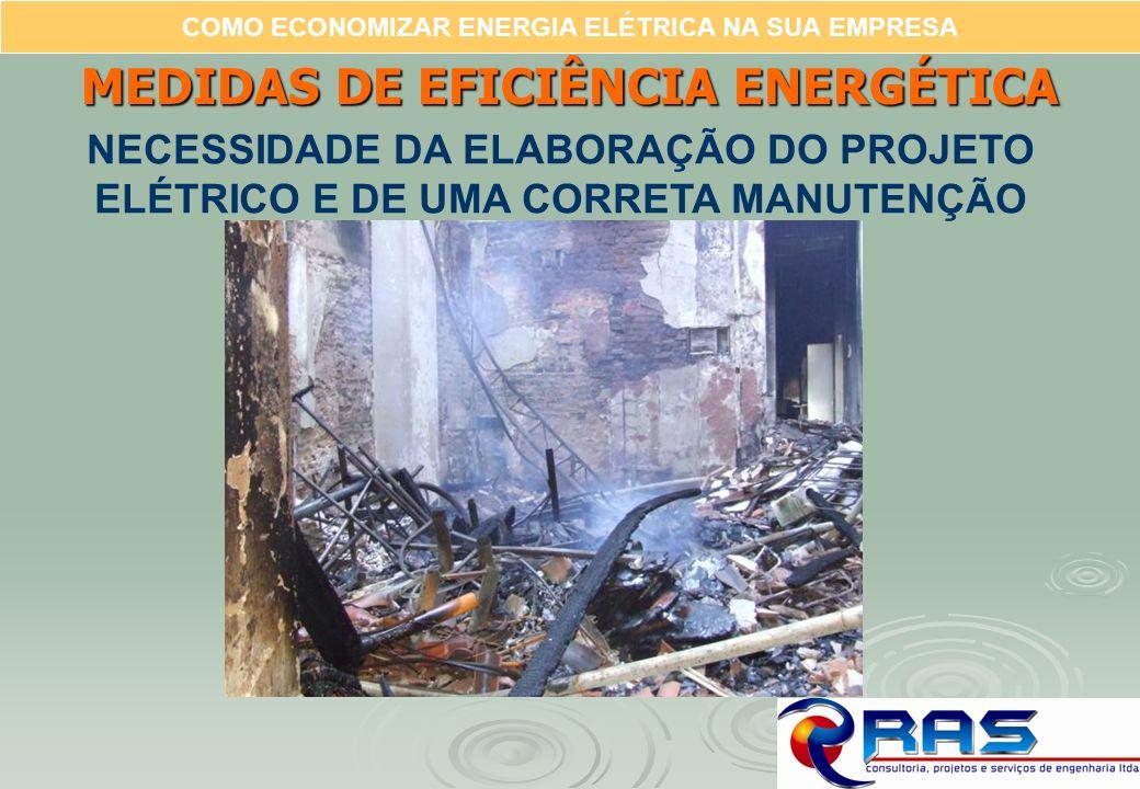 COMO ECONOMIZAR ENERGIA ELÉTRICA NA SUA EMPRESA MEDIDAS DE EFICIÊNCIA ENERGÉTICA NECESSIDADE DA ELABORAÇÃO DO PROJETO ELÉTRICO E DE UMA CORRETA MANUTE