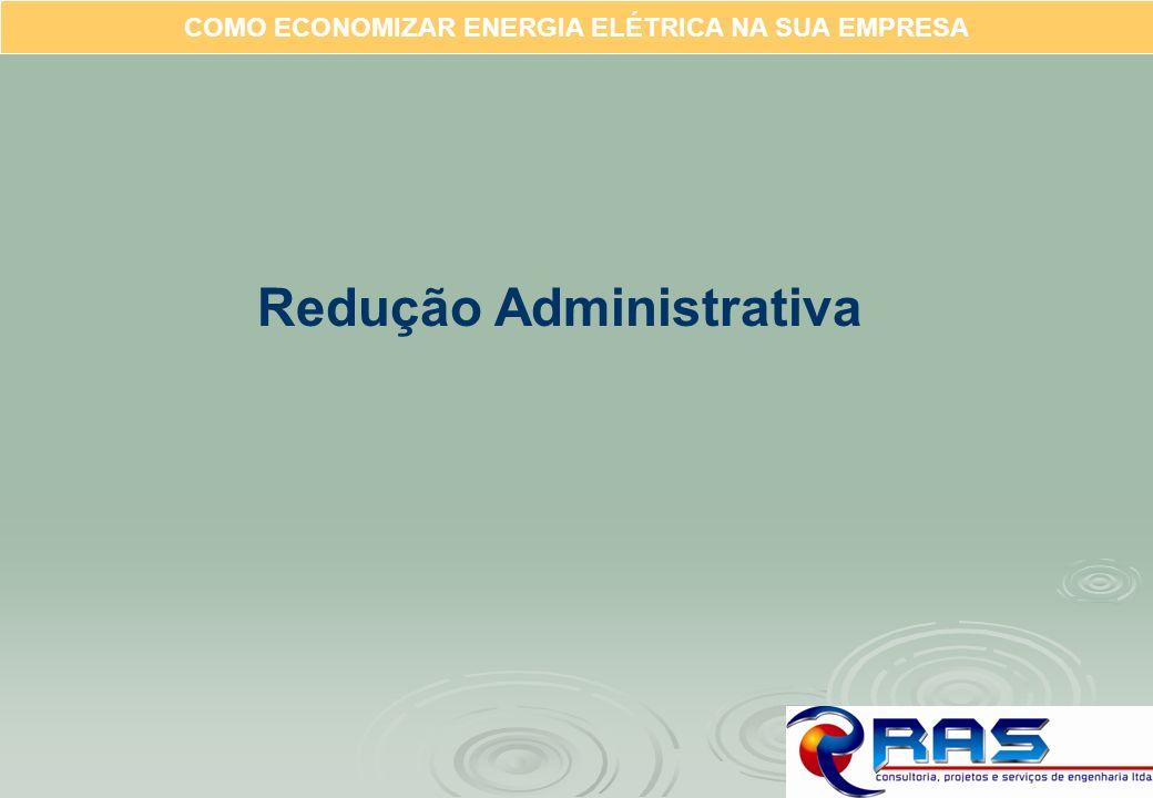 COMO ECONOMIZAR ENERGIA ELÉTRICA NA SUA EMPRESA Redução Administrativa