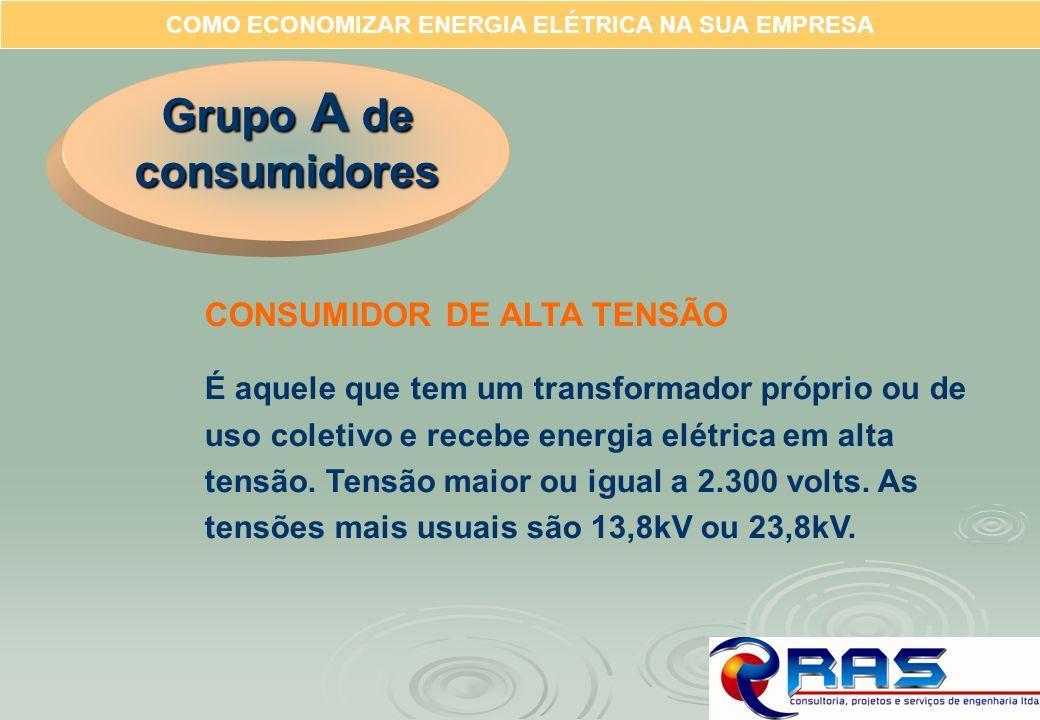 COMO ECONOMIZAR ENERGIA ELÉTRICA NA SUA EMPRESA CONSUMIDOR DE ALTA TENSÃO É aquele que tem um transformador próprio ou de uso coletivo e recebe energi