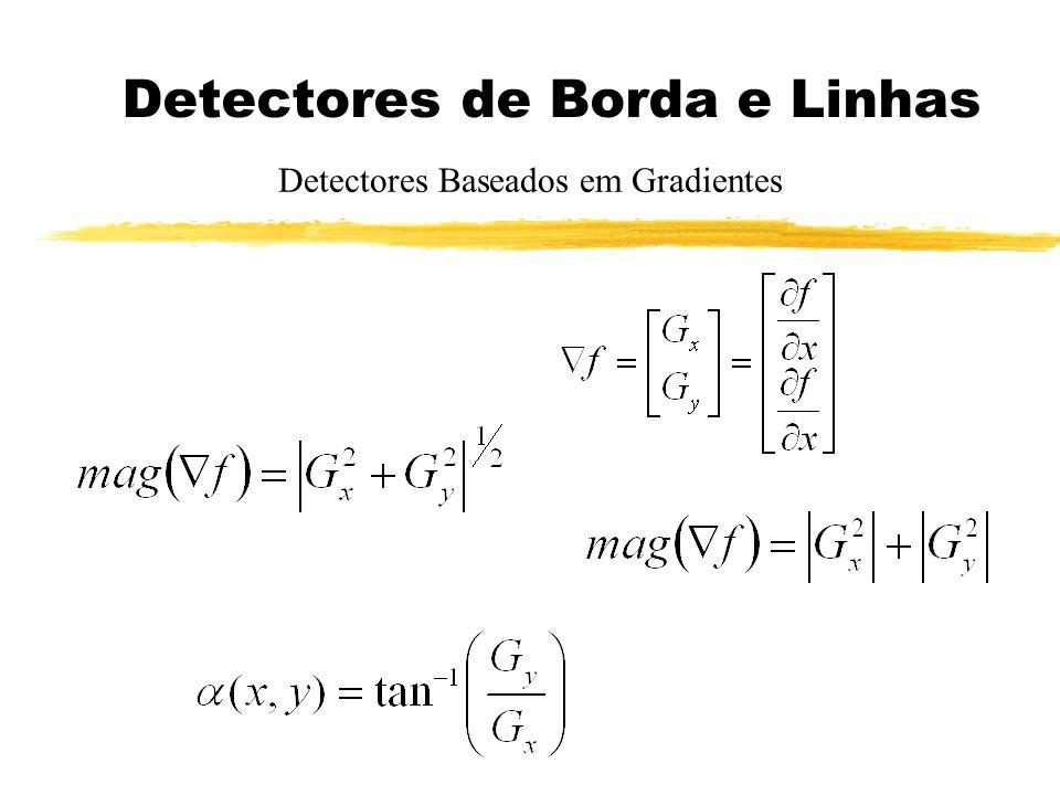 Detectores de Borda e Linhas Detectores Baseados em Gradientes