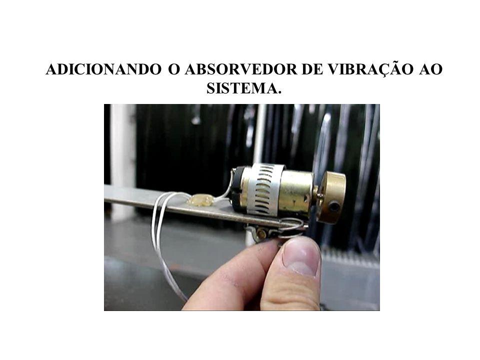 ADICIONANDO O ABSORVEDOR DE VIBRAÇÃO AO SISTEMA.