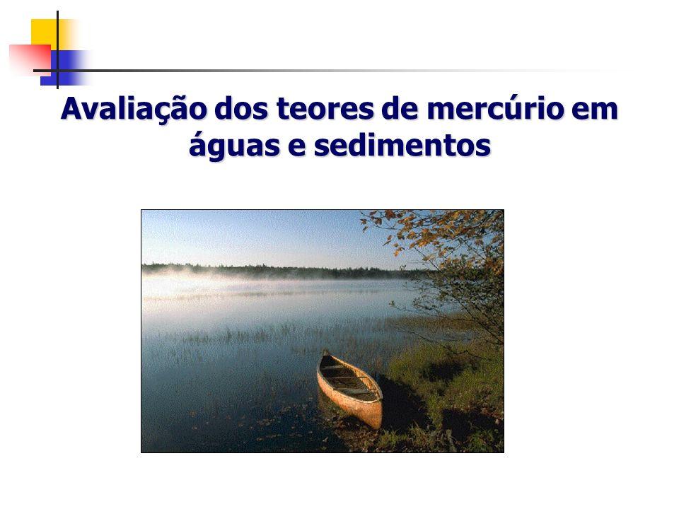 Níveis típicos de Hg em amostras ambientais Ar Chuva Oceano aberto Água costeira Sedimentos marinhos Solos contaminados 1 - 4 ng m 3 5 - 100 ng l -1 0,5 - 3 ng l -1 2 -15 ng l -1 < 100 ng g -1 50 -100 µg g -1 Rios e lagos 1 - 3 ng l -1 Sedimentos e solos < 700 ng g -1 fjkrug@cena.usp.br
