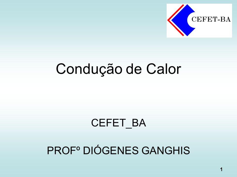 1 Condução de Calor CEFET_BA PROFº DIÓGENES GANGHIS