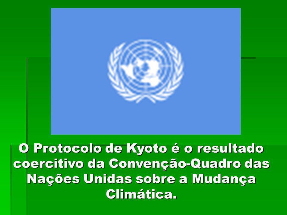 O Protocolo de Kyoto é o resultado coercitivo da Convenção-Quadro das Nações Unidas sobre a Mudança Climática.