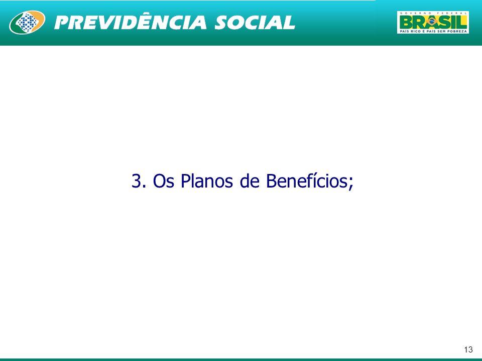 13 3. Os Planos de Benefícios;