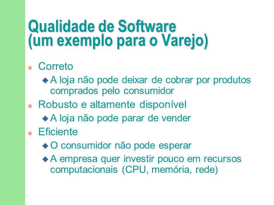 O que é um software de qualidade? O software que satisfaz os requisitos solicitados pelo usuário. Deve ser fácil de manter, ter boa performance, ser c