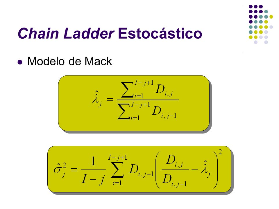 Chain Ladder Estocástico Modelo de Mack