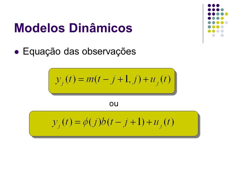 Modelos Dinâmicos Equação das observações ou