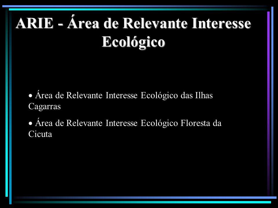 ARIE - Área de Relevante Interesse Ecológico Área de Relevante Interesse Ecológico das Ilhas Cagarras Área de Relevante Interesse Ecológico Floresta d
