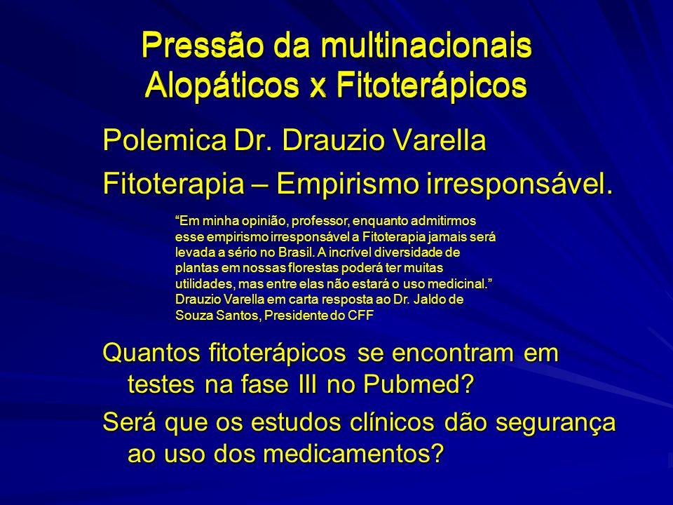 Pressão da multinacionais Alopáticos x Fitoterápicos Polemica Dr.