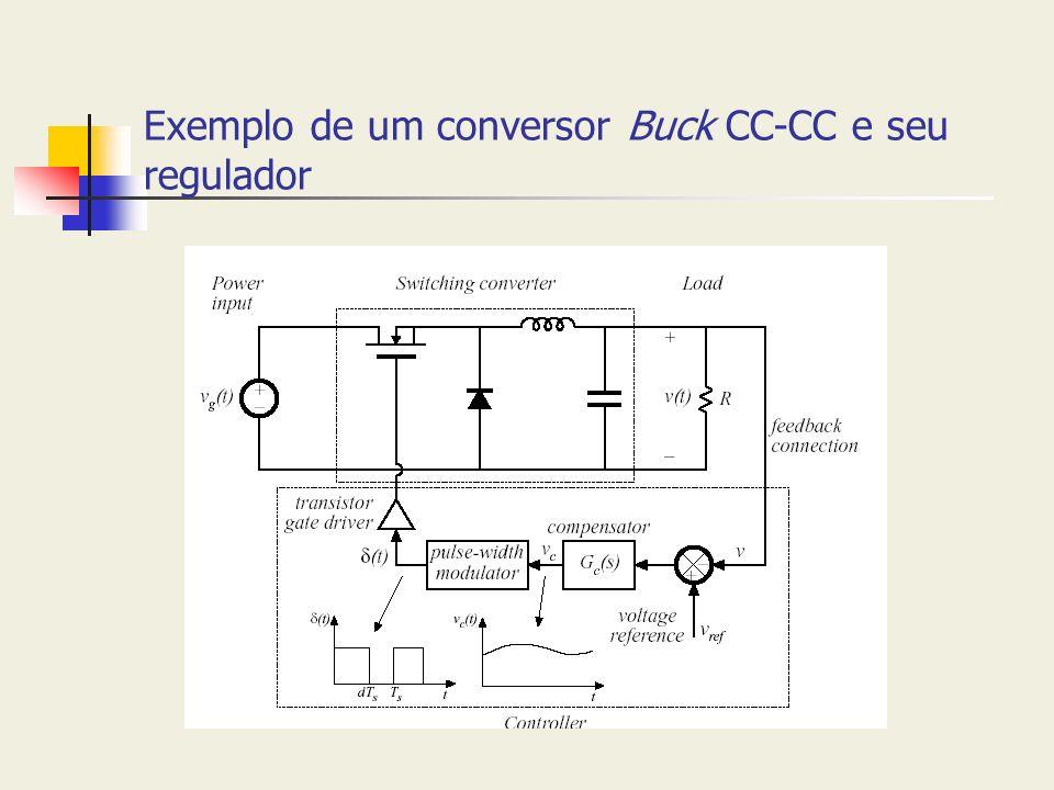 Exemplo de um conversor Buck CC-CC e seu regulador