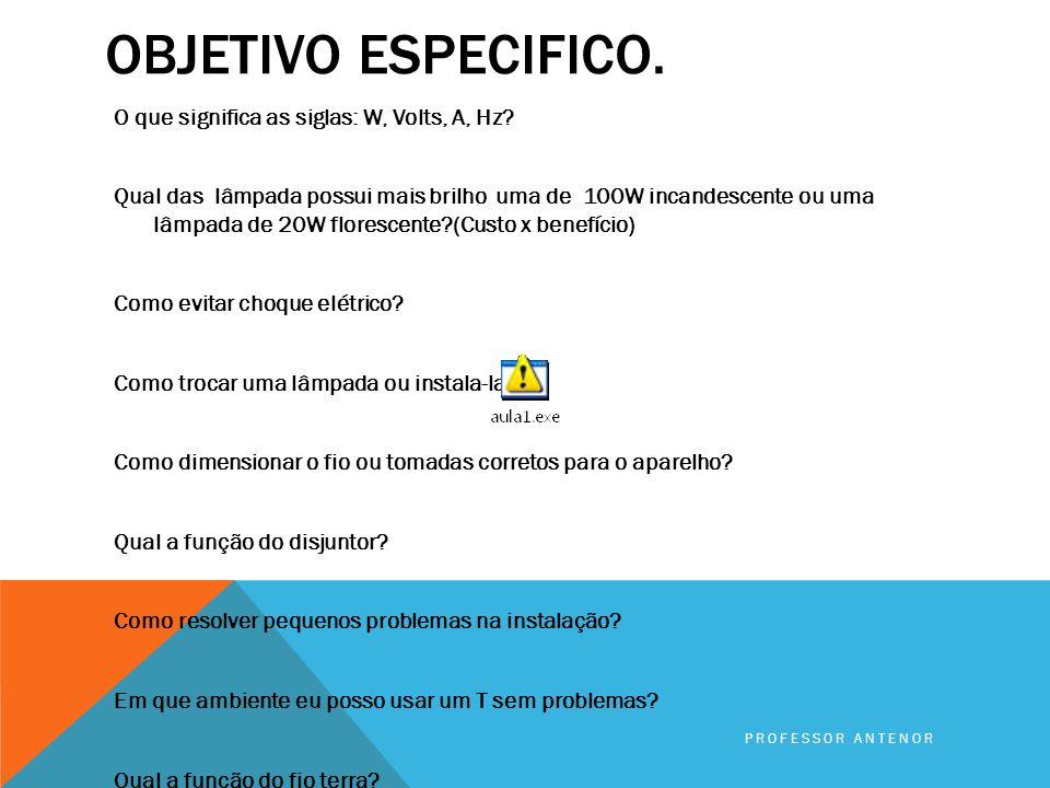 OFICINA DE ELETRICIDADE BÁSICA. NOÇÕES BÁSICAS EM CIRCUITO ELÉTRICOS Professor Antenor e- mail:antenordfte@yahoo.com.br