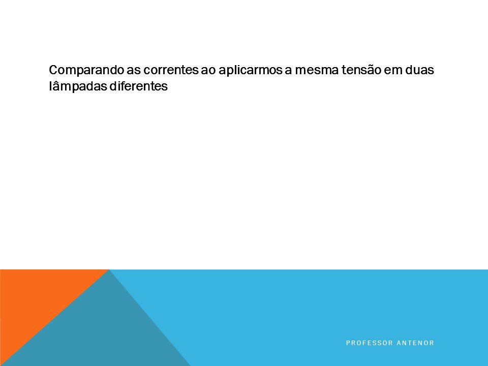 REVISÃO ELETRICIDADE BÁSICA RESISTÊNCIA ELÉTRICA PROFESSOR ANTENOR