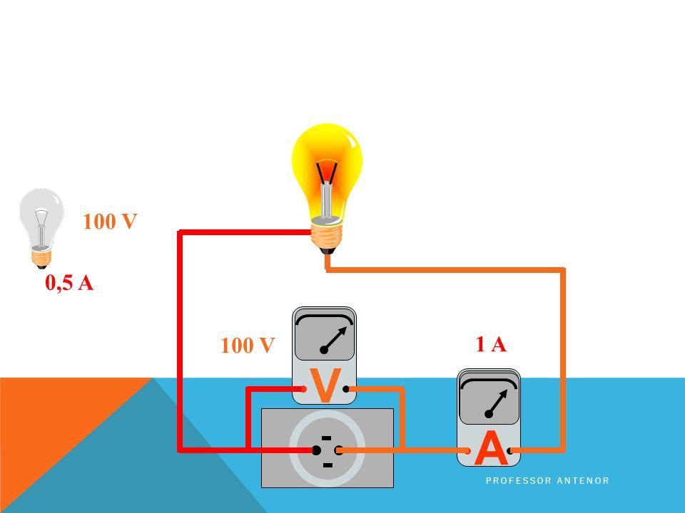 0,5 A 100 V A V PROFESSOR ANTENOR