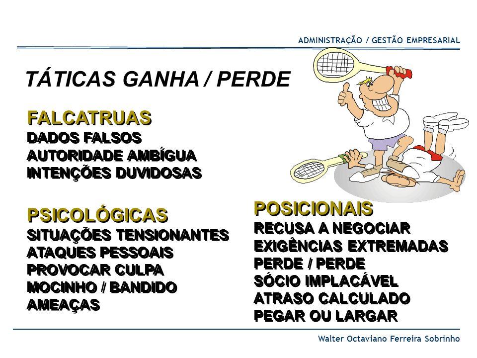 ADMINISTRAÇÃO / GESTÃO EMPRESARIAL Walter Octaviano Ferreira Sobrinho FALCATRUAS DADOS FALSOS AUTORIDADE AMBÍGUA INTENÇÕES DUVIDOSAS PSICOLÓGICAS SITU
