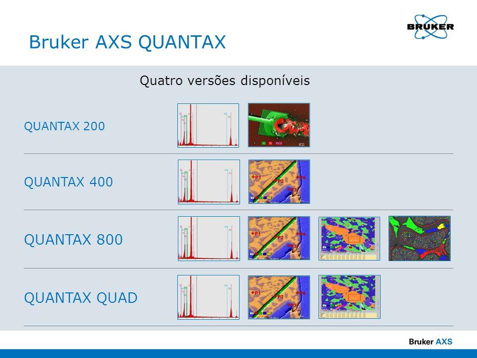 Bruker AXS QUANTAX Quatro versões disponíveis QUANTAX 200 QUANTAX 400 QUANTAX 800 QUANTAX QUAD