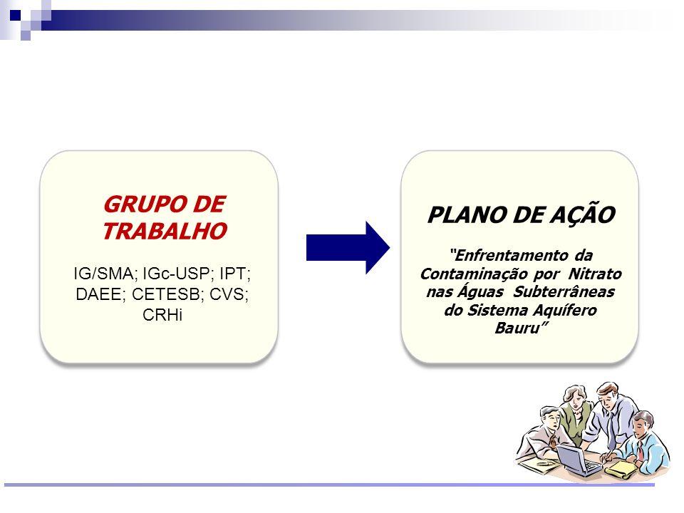 Reunião Conselho Científico de Pesquisa Ambiental Agosto/2009 PLANO DE AÇÃO Enfrentamento da Contaminação por Nitrato nas Águas Subterrâneas do Sistem