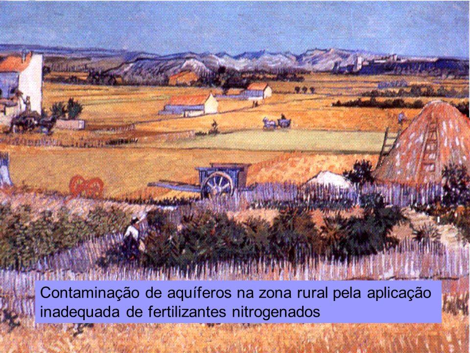 Reunião Conselho Científico de Pesquisa Ambiental Agosto/2009 Contaminação de aquíferos na zona rural pela aplicação inadequada de fertilizantes nitro