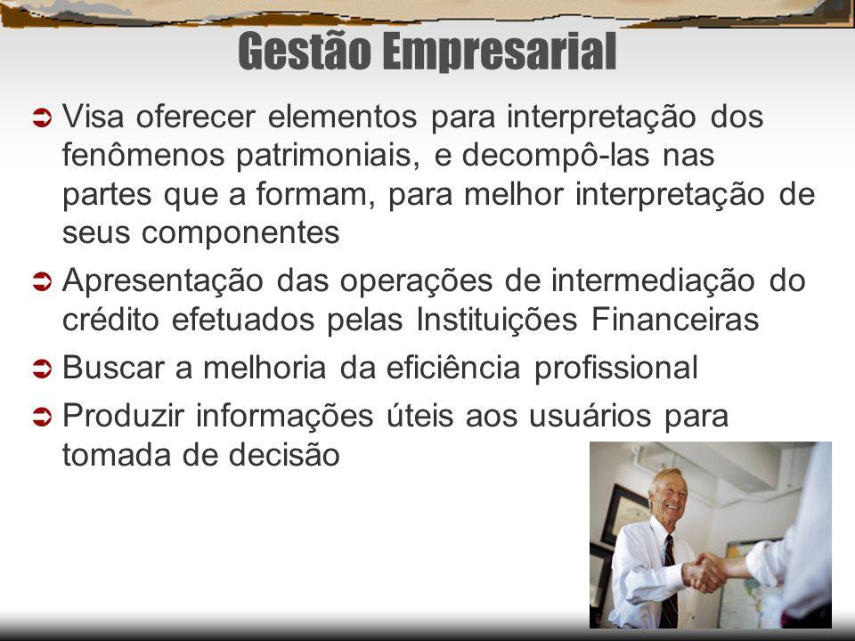 Gestão Empresarial Visa oferecer elementos para interpretação dos fenômenos patrimoniais, e decompô-las nas partes que a formam, para melhor interpret