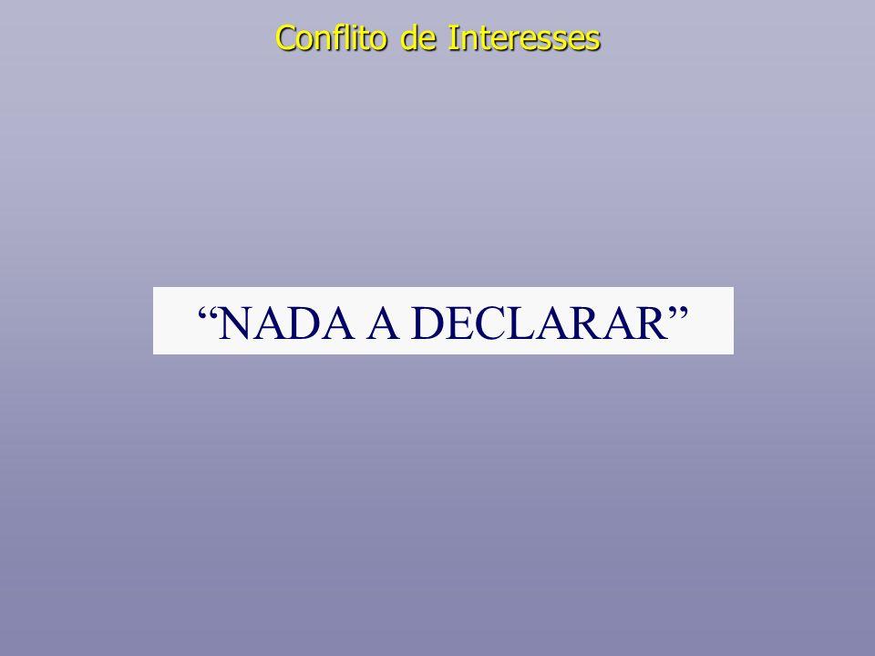 Conflito de Interesses NADA A DECLARAR