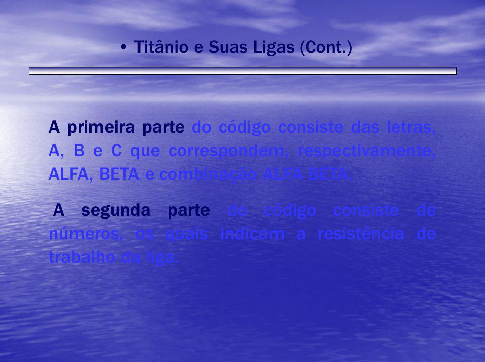 A primeira parte do código consiste das letras, A, B e C que correspondem, respectivamente, ALFA, BETA e combinação ALFA BETA. A segunda parte do códi