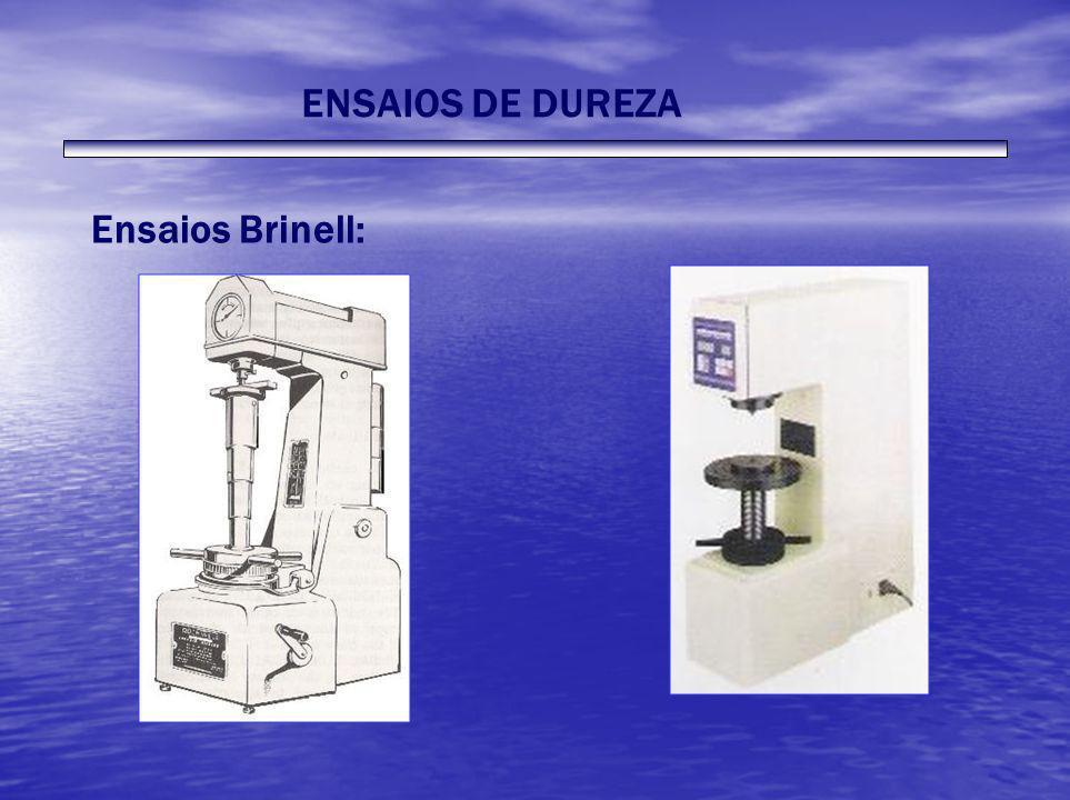 ENSAIOS DE DUREZA Ensaios Brinell: