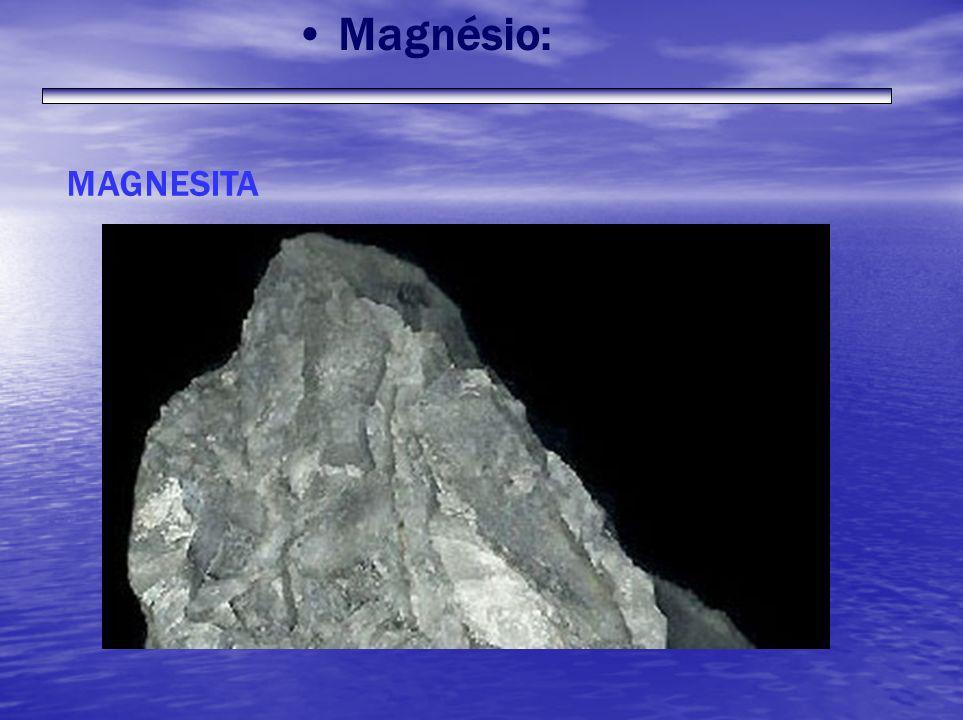 Magnésio: MAGNESITA