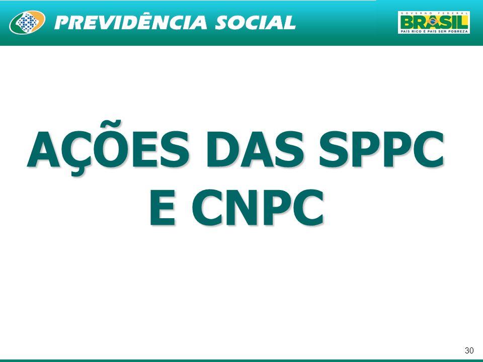 30 AÇÕES DAS SPPC E CNPC