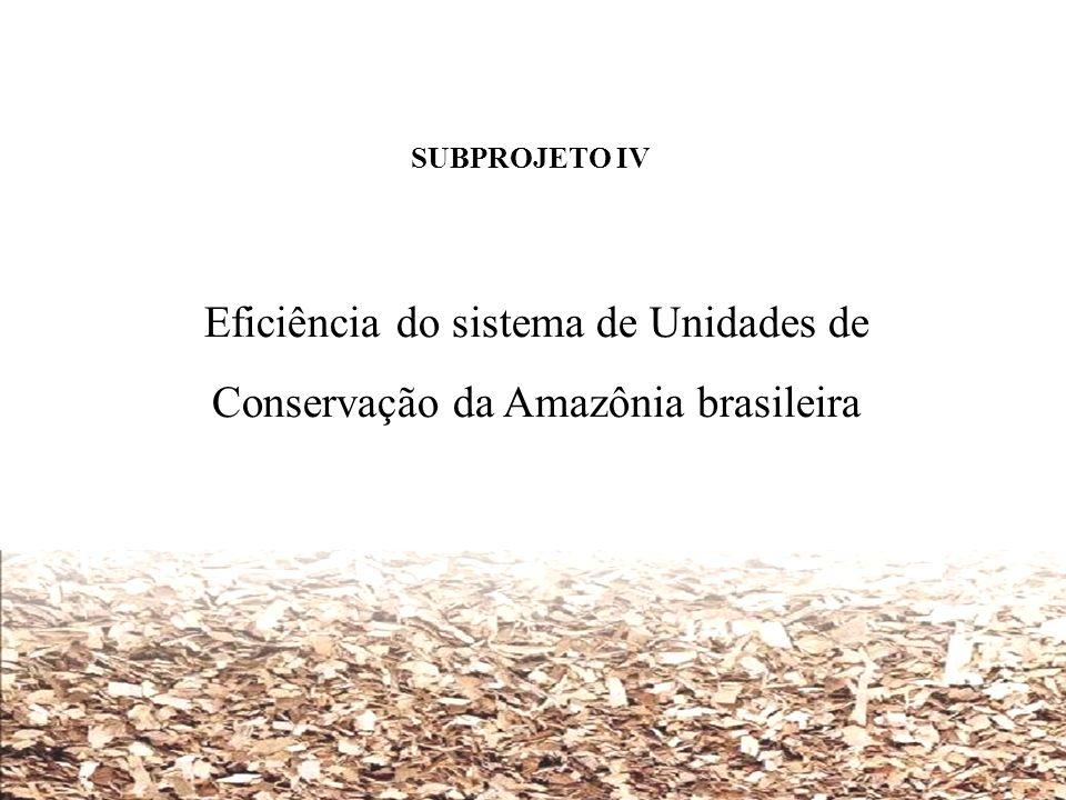 SUBPROJETO IV Eficiência do sistema de Unidades de Conservação da Amazônia brasileira