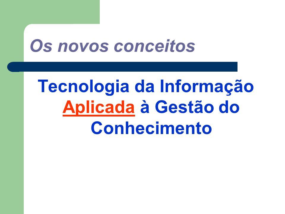 Os novos conceitos Tecnologia da Informação Aplicada à Gestão do Conhecimento