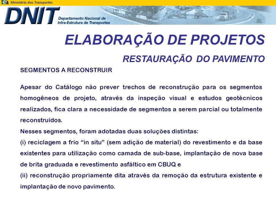 ELABORAÇÃO DE PROJETOS RESTAURAÇÃO DO PAVIMENTO EST.