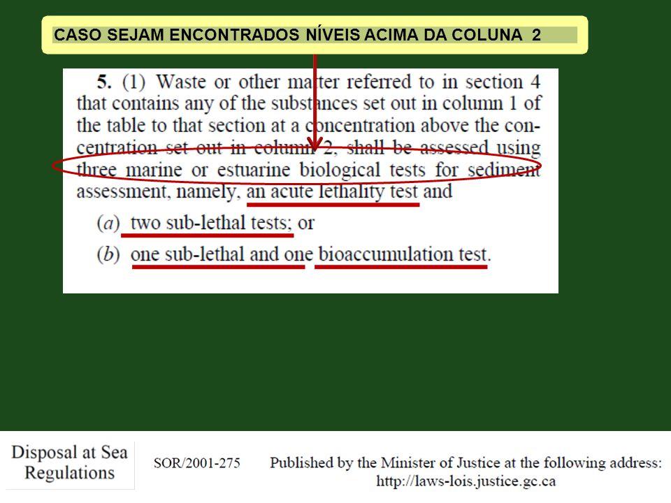 Slide 16 CASO SEJAM ENCONTRADOS NÍVEIS ACIMA DA COLUNA 2