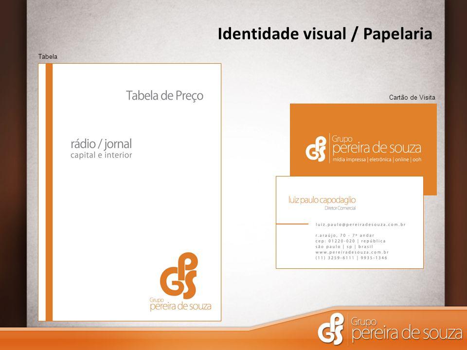 Identidade visual / Papelaria Cartão de Visita Tabela