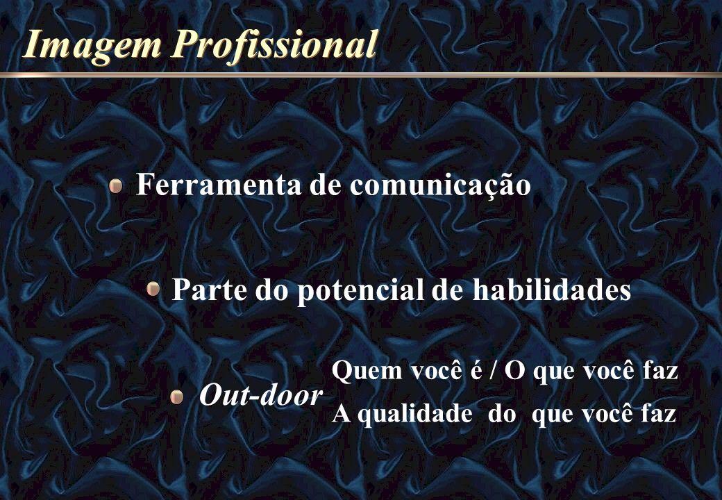 Imagem Profissional Ferramenta de comunicação Parte do potencial de habilidades Out-door Quem você é / O que você faz A qualidade do que você faz