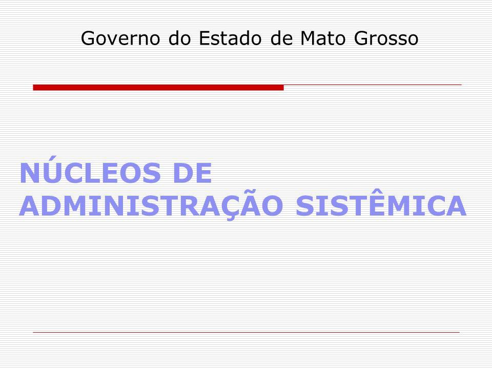 NÚCLEOS DE ADMINISTRAÇÃO SISTÊMICA Governo do Estado de Mato Grosso