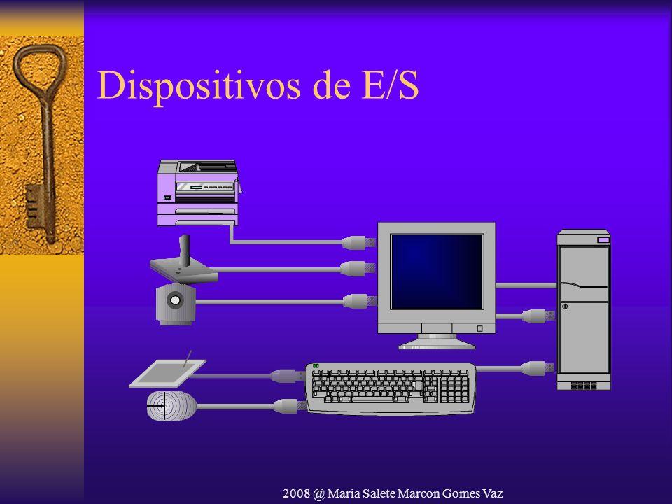 2008 @ Maria Salete Marcon Gomes Vaz Dispositivos de E/S