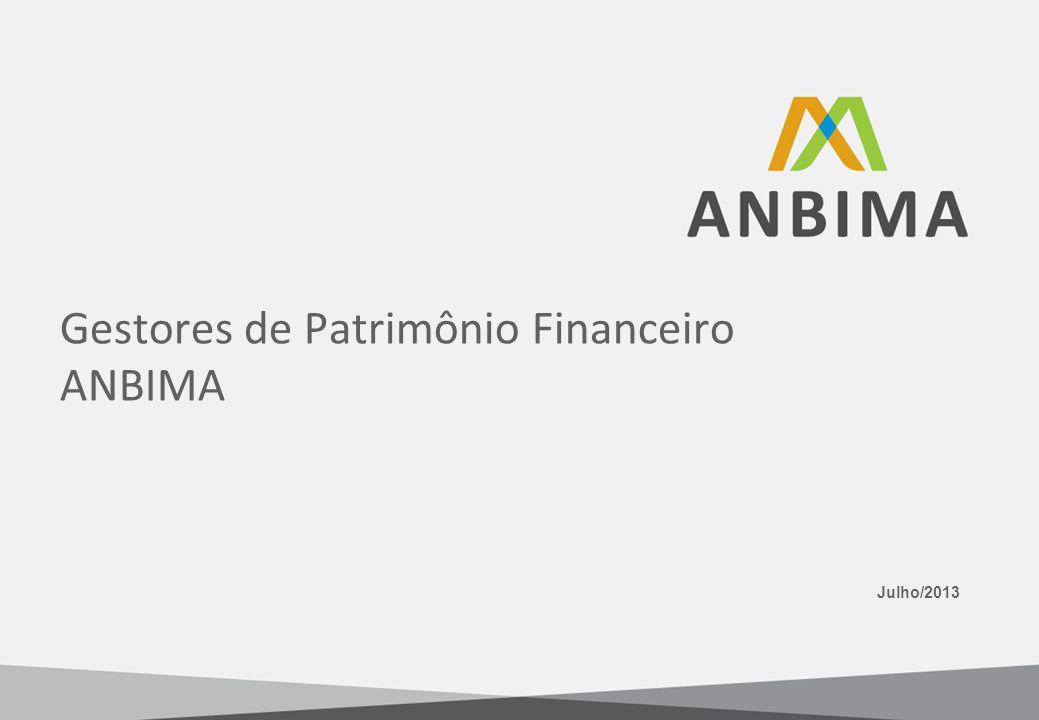 Julho/2013 Gestores de Patrimônio Financeiro ANBIMA