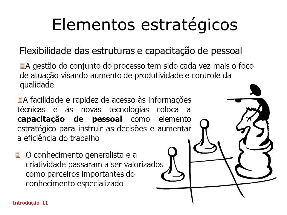 Elementos estratégicos 3O conhecimento generalista e a criatividade passaram a ser valorizados como parceiros importantes do conhecimento especializad