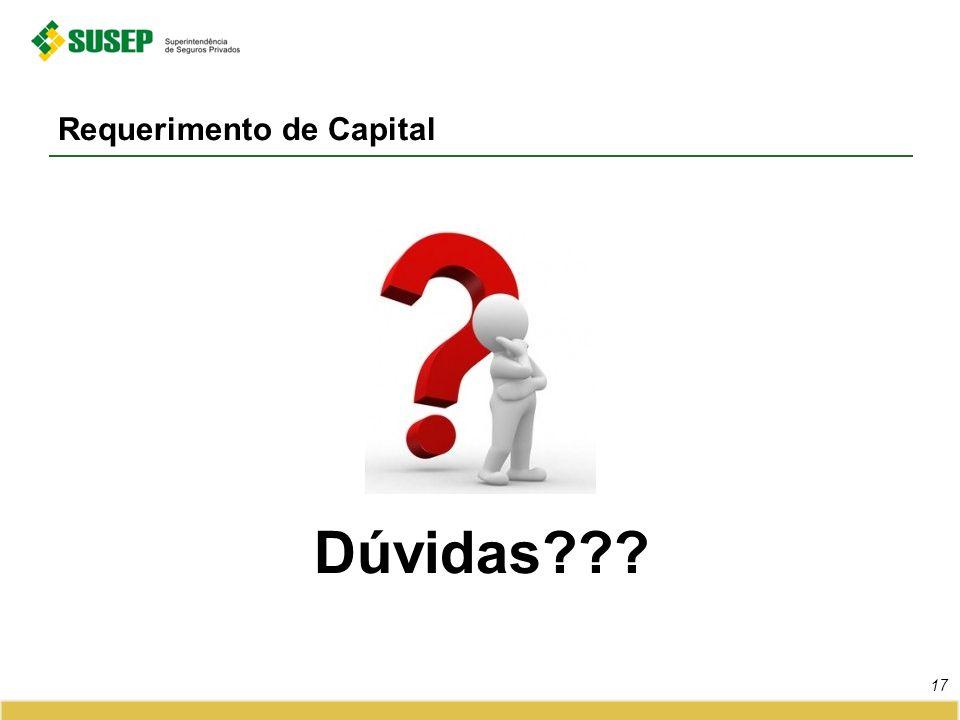Requerimento de Capital 17 Dúvidas???