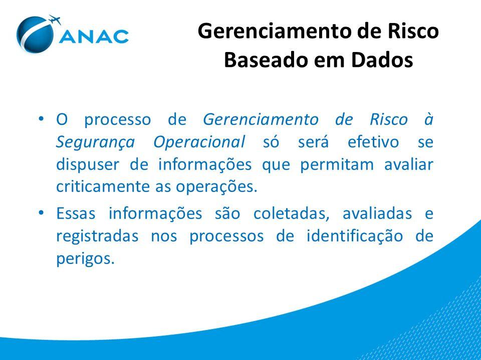 O processo de Gerenciamento de Risco à Segurança Operacional só será efetivo se dispuser de informações que permitam avaliar criticamente as operações