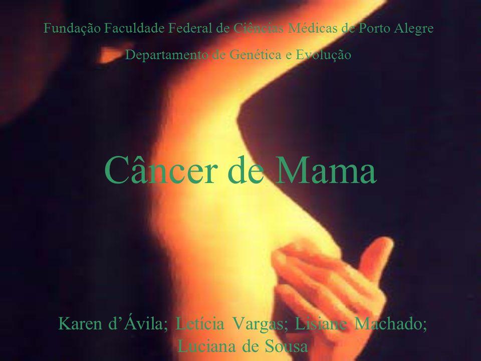 Câncer de Mama Karen dÁvila; Letícia Vargas; Lisiane Machado; Luciana de Sousa Fundação Faculdade Federal de Ciências Médicas de Porto Alegre Departam