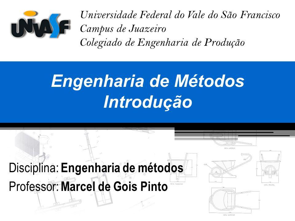 Histórico da Engenharia de Métodos A Engenharia de Métodos, também conhecida como estudo de tempos e movimentos surgiu, basicamente, do trabalho de 3 pessoas: -Frederick H.