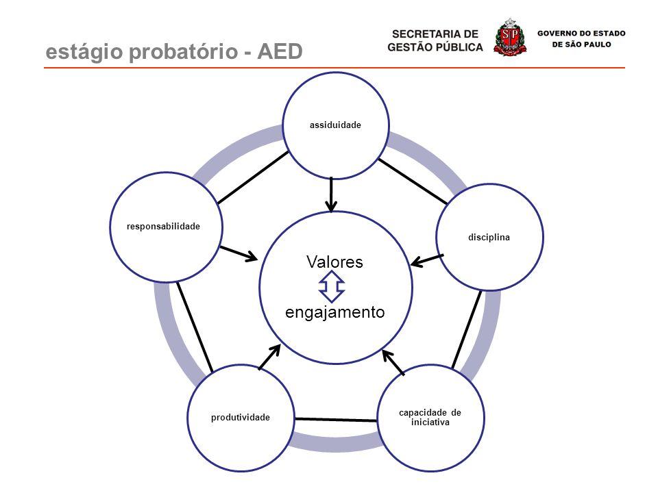 estágio probatório - AED