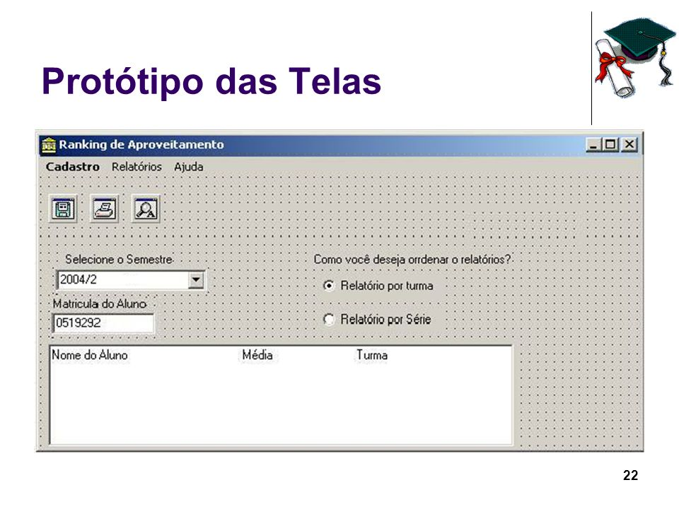 22 Protótipo das Telas
